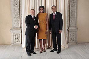 Stjepan Mesić - Mesić with Michelle and Barack Obama.