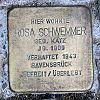 Stolperstein Gutenbergstr 20 Schwemmer Rosa