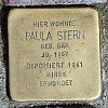Stolperstein Hufnagelstraße 22 Stern Paula