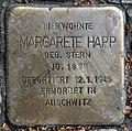 Stolperstein Babelsberger Str 6 (Wilmd) Margarete Happ.jpg