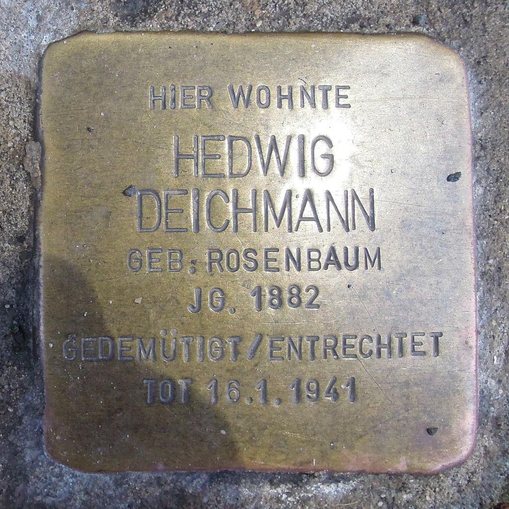 Stolperstein Hoya Lange Straße 51 Hedwig Deichmann