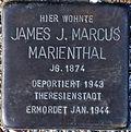 Stolperstein Köln, James J. Marcus Marienthal (Samariter Straße 4) .jpg