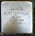 Stolperstein Kleve Hagsche Straße 9-11 Kurt Leffmann.jpg