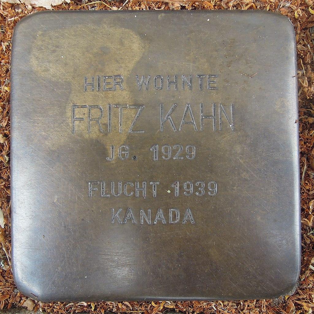 Stolperstein für Fritz Kahn