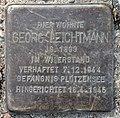 Stolperstein Schulstr 51 (Gesbr) Georg Leichtmann.jpg