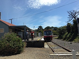 Stony Point railway station - Northbound view in October 2013