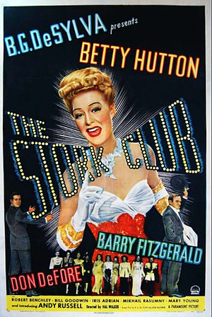 The Stork Club (1945 film) - Film poster