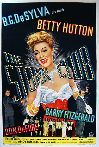 The Stork Club (1945 film) - Film poster