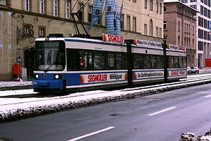 Trams in Germany - Tram in Munich