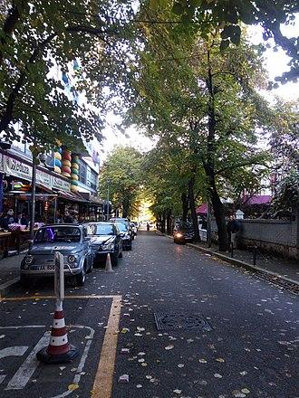 Kafana - Cafes along Mustafa Matohiti St near Blloku district in central Tirana