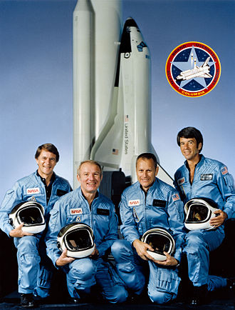 Vance D. Brand - Brand (second from left) with his STS-5 crewmates