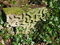 Stucco stone from footbridge.JPG