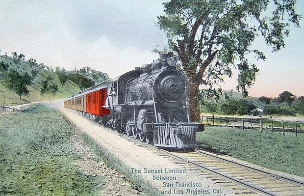 The train when it ran between New Orleans and San Francisco Sunset Limited Southern Pacific circa 1910.JPG