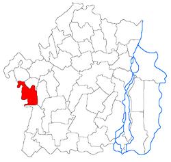 Vị trí của Surdila-Greci