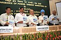 """Sushilkumar Shinde releasing a book """"Scheme for supply of Electricity in 5 Kms. area around Central Generating Power Plants"""" at the Conference of Power Ministers of States and UTs, in New Delhi on April 28, 2010.jpg"""