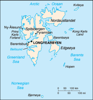 Outline of Svalbard - An enlargeable basic map of Svalbard