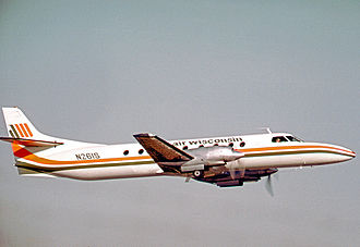 Air Wisconsin - Swearingen Metro of Air Wisconsin departing from Chicago O'Hare in 1973