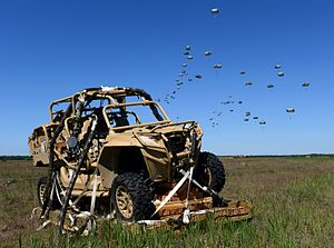 Polaris RZR - Polaris MRZR-4 after an airdrop by the 82nd Airborne Division during a military exercises