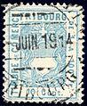 Switzerland Fribourg 1907 revenue 10c - 104A.jpg