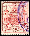 Switzerland Les Ponts-de-Martel 1892 revenue 1 20c - 2.jpg