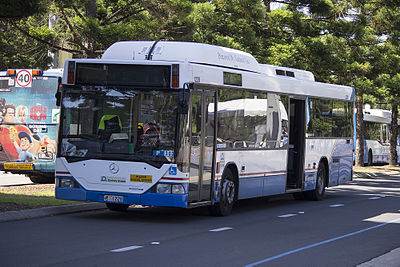 A typical city bus in Sydney