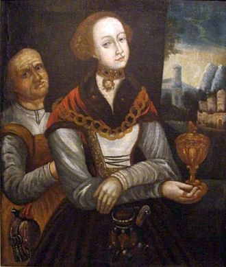 Sidonia von Borcke - Sidonia von Borcke in her youth and old age (artist unknown)