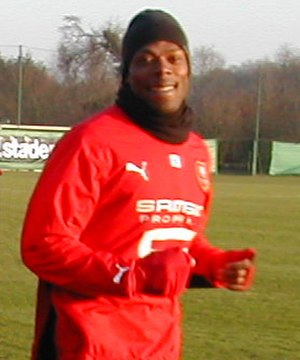 Sylvain Wiltord - Wiltord training with Rennes in 2008