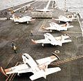 T-2C Buckeyes aboard USS America (CV-66) in 1993.jpg