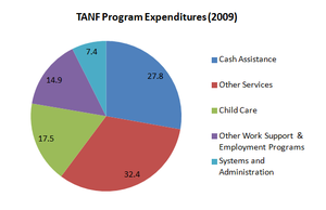 Temporary Assistance for Needy Families - Image: TANF Program Spending