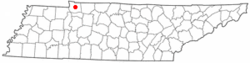 Location of Dover, Tennessee