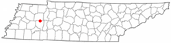 Location of Parkers Crossroads, Tennessee