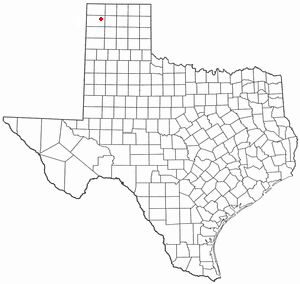 Hartley, Texas - Image: TX Map doton Hartley
