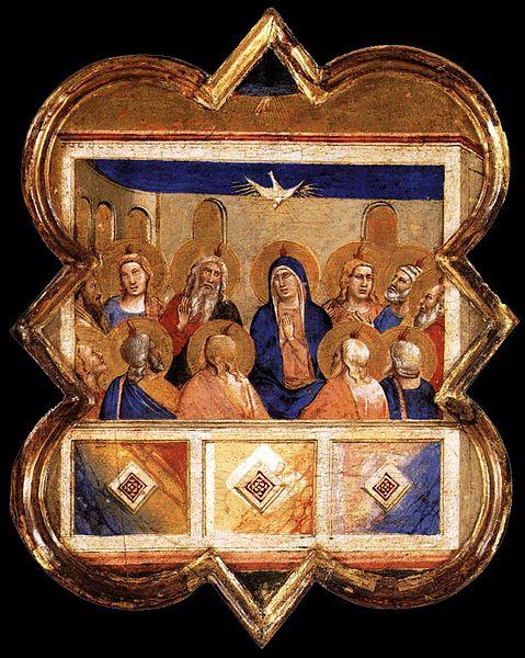 File:Taddeo gaddi, formelle dell'armadio della sacrestia di santa croce, pentecoste a berlino.jpg