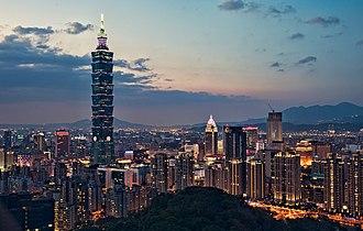 Economy of Taiwan - Taipei skyline.