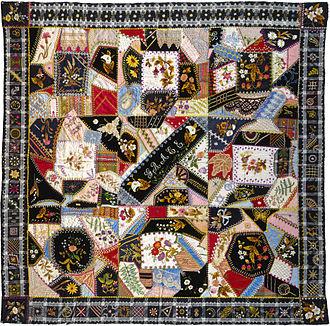Crazy quilting - Image: Tamar Horton Harris North – Quilt (or decorative throw), Crazy pattern