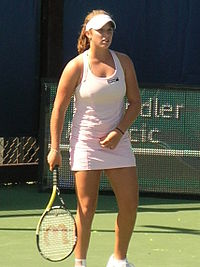 Tamaryn Hendler at Bank of the West Classic qualifying 2010-07-25 1.JPG