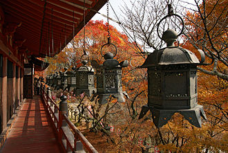 Tōrō - Hanging lanterns (tsuri-dōrō) at Tanzan Shrine