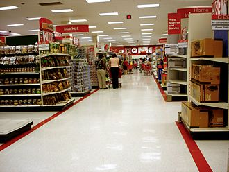 Recessed light - The interior of a Target store