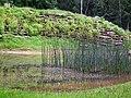 Teich im Mufflongehege Wildpark Klein-Auheim Juni 2012.JPG