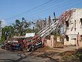 Telecommunication tower after Cyclone Hudhud at Bheemunipatnam.jpg