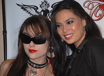 Porn actresses Sasha Grey and Tera Patrick. Ta...