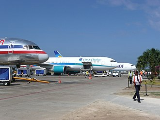 Punta Cana International Airport - Apron view