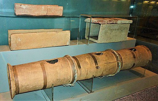 Terracotta Pipes from an Aqueduct - Syntagma Metro Station Archaeological Collection by Joy of Museum