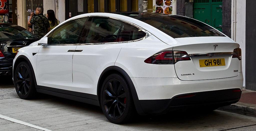 Tesla Model Y Wikipedia: Heckansicht, 2. April 2018