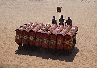 Testudo formation Defensive shield wall used by Roman Legions