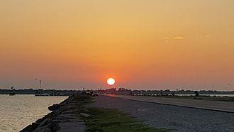 Texas City Dike - Sunset image taken from Texas City Dike