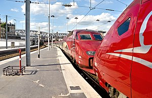 Thalys - A Thalys PBA and PBKA coupled in Paris Nord
