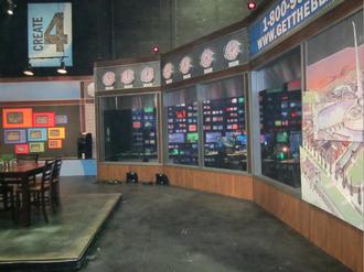 TheBlaze - TheBlaze Dallas studios at the Studios at Las Colinas looking into the television control room.