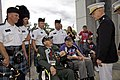 The 35th Commandant of the Marine Corps, Gen. James F. Amos, right, meets with World War II veterans and members of the Providence Police Department Pipes and Drums during the Honor Flight event at the World War 130928-M-LU710-156.jpg