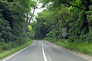 A4074 road - Image: The A4074 leaving Chazey Heath (geograph 4260534)